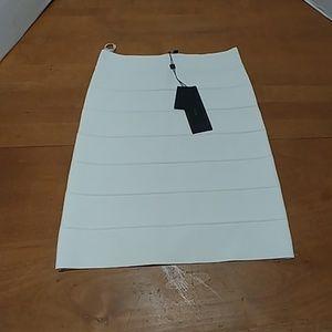 BCBGMaxAzaria Bandage Skirt White Simone Pencil S